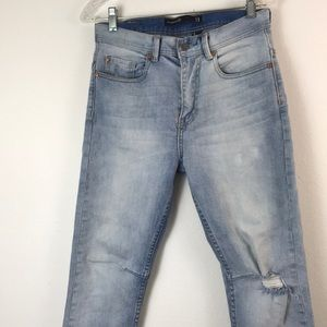 Cotton On size 28 tapered carrot jean distressed